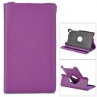 Protective Rotation PU Leather Case for Google Nexus 7 - Purple