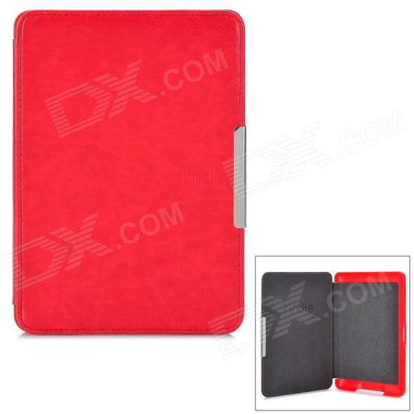 Protective ABS + PU Leather Case for Kindle Paperwhite - Red