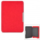 Protective ABS + PU Ledertasche für Kindle Paperwhite - Red