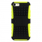 Cool Protective Plastic Back Case for Iphone 5C - Black + Green