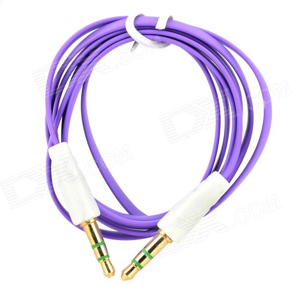 3.5mm TRS Male to Male Flat Audio Cable - Purple (100cm-Length)