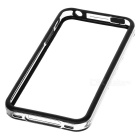Protective Plastic Bumper Case for Iphone 4 / 4S - Transparent + Black