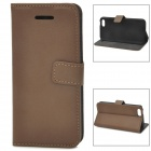 Stylish Protective PU Leather Case for Iphone 5C - Brown