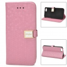 Stylish Protective PU Leather Case for Iphone 5C - Pink