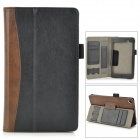 Protective PU Leather Holder Case w/ Card Slots for Google Nexus 7 II - Brown + Black