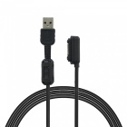 Magnetic USB Charging Cable for Sony Xperia i1 XL39H - Black (100cm)