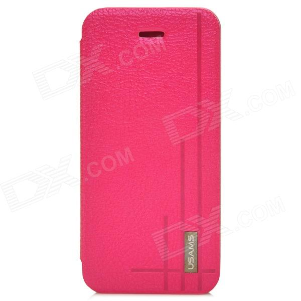 USAMS Starry Sky Series PU Leather Flip Open Case for Iphone 5C - Deep Pink