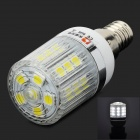 Lexing E14 3W 200lm 7000K 27-SMD-5050 White Light LED Corn Lamp - Silver + White (220-240V)