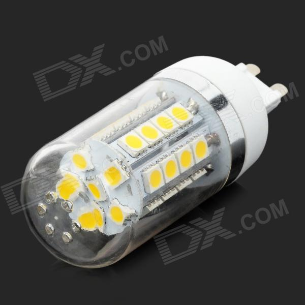 lexing LX-YMD-065 G9 3.5W 300lm 3500K 34 SMD-5050 Warm White LED Corn Lamp - White + Silver
