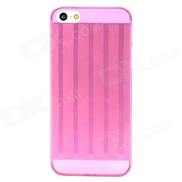 Protective Super Slim Plastic Back Case for Iphone 5 - Deep Pink raindrop pattern protective abs back case for iphone 5 transparent deep pink orange