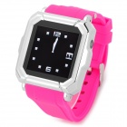 "Iradish HD-i900 GSM Watch Phone w/ 1.54"" Resistive Screen, Quad-Band, Bluetooth and FM - Deep Pink"