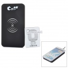 5V 1000mAh Qi USB Wireless Charger w/ Receiver for Samsung Galaxy Note 2 N7100 - Black