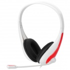 Gorsun GS-A668 Stereo Headset w/ Microphone - White + Red + Black