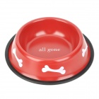 Doglemi Anti-slip Stainless Steel Bowl for Pet Dog / Cat - Red