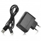 EU Plug Power Adapter + USB Data Cable for Samsung T310 / T311 / T210 / T211 / P5200