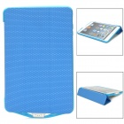 SL6500mini External 6500mAh Power Battery Charger w/ PU Leather Case for iPad Mini - Blue + White