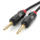 3.5mm Male to Male Spring Extension Audio Cable - Black + Red