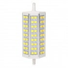 ZnDiy-BRY R7S Z-023 11W 600lm 3500K 54-5050 SMD LED Warm White Light Spotlight - Silver + White