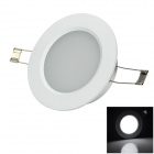lexing LX-TD-5 4.5W 260lm 7000K White Light Ceiling Lamp - Silver + White