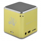 KD-CKYX-HUANGSE Portable Speaker w/ TF Slot /  FM Radio - Yellow