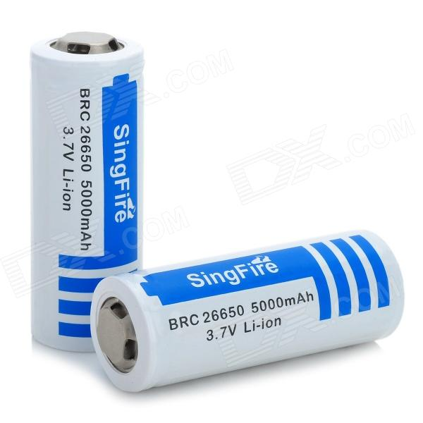SingFire BRC 3.7V 26650 5000mAh Li-ion Protected Battery (2 PCS) yes yes relayer cd dvd