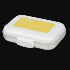 E820  8-Compartment Portable Pill Case - White + Yellow