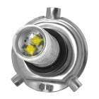 HJ Y-H4-16W H4 600lm 6500K White Light Car Headlamp w/ 6-Cree XB-D R3 - Silver (10~30V)