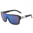 OREKA 2084 Men's Stylish Outdoor UV400 Cycling Sunglasses - Black + Silver