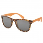 OREKA DY785 Stylish Leopard Pattern Frame UV400 Sunglasses - Orange + Gray