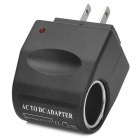 6W 12V Car Cigarette Charger Power Converter - Black
