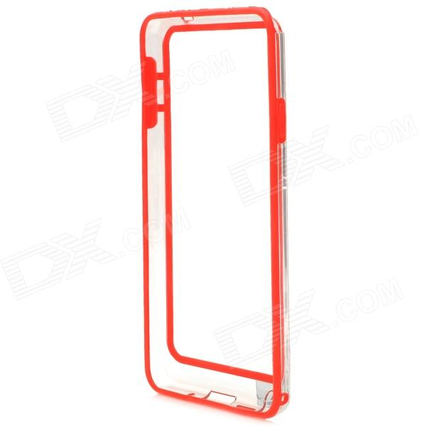 Protective Plastic Bumper Case for Samsung Galaxy Note 3 - Red + Transparent metal ring holder combo phone bag luxury shockproof case for samsung galaxy note 8
