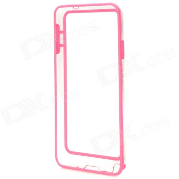 Protective Plastic Bumper Case for Samsung Galaxy Note 3 - Pink + Transparent metal ring holder combo phone bag luxury shockproof case for samsung galaxy note 8