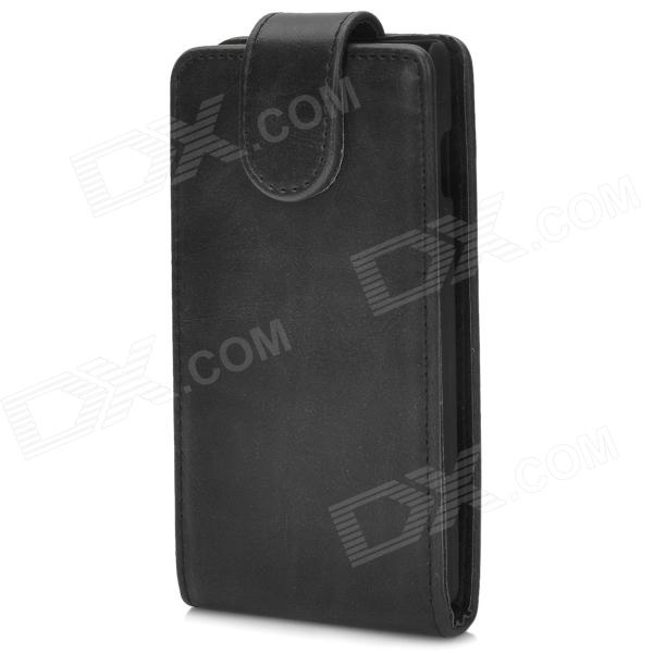 Protective PU Leather Top Flip Open Case for LG Optimus L7 II - Black protective pu leather case for lg optimus 3d p920 black