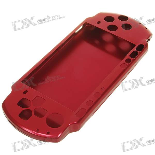 Front and Back Aluminum Plates for PSP 3000 (Red)
