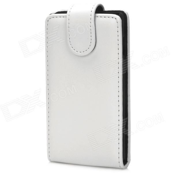 Protective PU Leather Top Flip Open Case for LG Optimus L7 II - White + Black protective pu leather case for lg optimus 3d p920 black