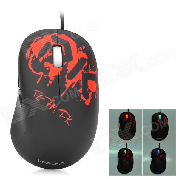 I-Rocks IM5-DK USB 2.0 Wired 3500dpi Optical Gaming Mouse - Black + Red motospeed v2 high precision usb 2 0 wired gaming optical mouse black