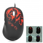 I-Rocks IM5-DK USB 2.0 Wired 3500dpi Optical Gaming Mouse - Black + Red