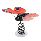 CPTCAM HD02 Solar Powered Simulation Butterfly - Black + Red