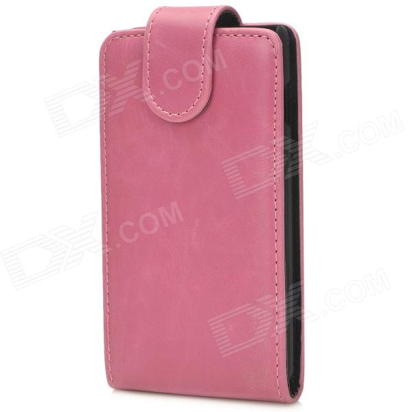 Protective PU Leather Top Flip Open Case for LG Optimus L7 II - Purplish Red + Black wallet style magnet buckle pu leather flip open case w stand card slot strap for iphone 6 4 7