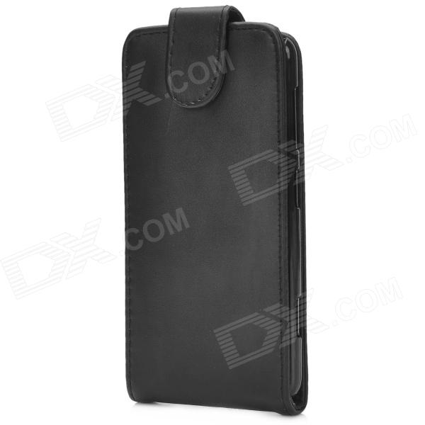 Protective Top Flip Open PU Leather Case for Nokia Lumia625 - Black