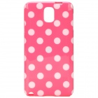 Protective Polka Dota TPU Back Case for Samsung NOTE3 / N9000 - Pink + White