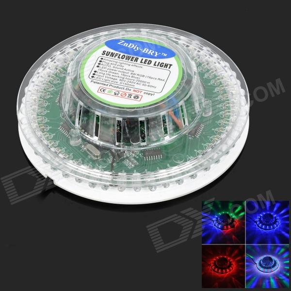 ZnDiy-BRY Sunflower 8W 48-LED Voice-Activated / Auto Rotating Party Stage Light (US plug)