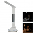 Multifunction Folding 7.2W 180lm 36-LED Touch Control Recording Table Light w/ LCD Display - White