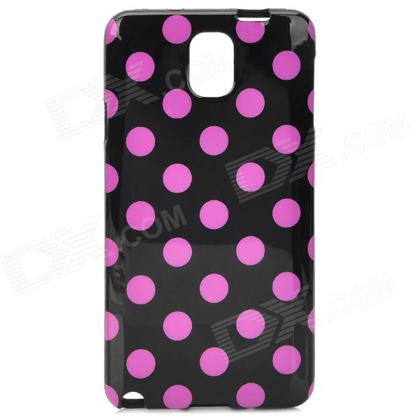 Protective Polka Dot TPU Back Case for Samsung NOTE3/ N9000 - Pink + Black protective tpu back case w stand for samsung galaxy note3 n9000 more traslucent black