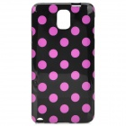 Protective Polka Dot TPU Back Case for Samsung NOTE3/ N9000 - Pink + Black