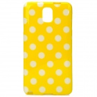 Protective Polka Dot TPU Back Case for Samsung Galaxy Note 3 / N9000 - Yellow + White