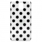 Protective Polka Dot TPU Back Case for Samsung Galaxy Note 3 / N9000 - White + Black