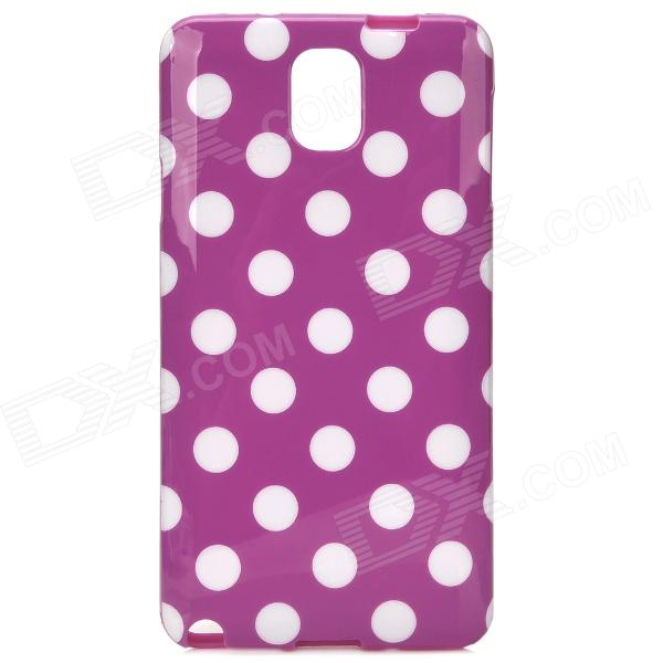 Protective Polka Dot Plastic Back Case for Samsung Note 3 / N9000 - Purple + White чехол для для мобильных телефонов none samsung 4 n9100 c for samsung galaxy note 4 n9100