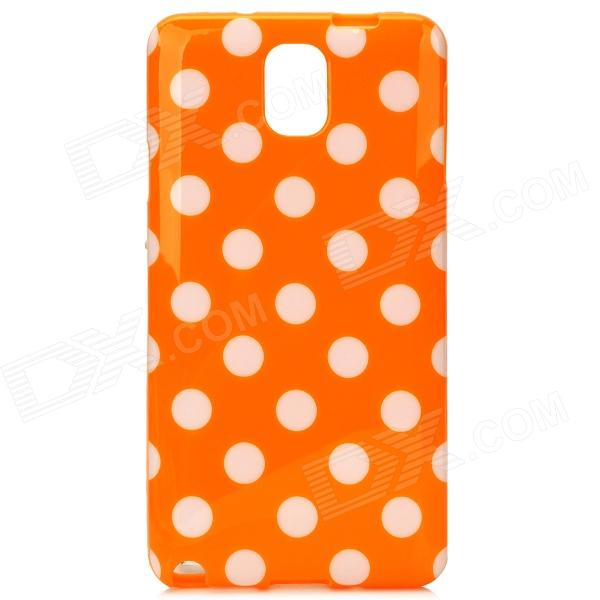 Protective Polka Dot TPU Back Case for Samsung Galaxy Note 3 / N9000 - Orange + White 20m waterproof bag case for 5 7 cell phone samsung galaxy note 3 n9000 white