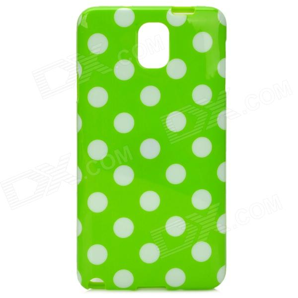Protective Polka Dot TPU Back Case for Samsung Galaxy Note 3 / N9000 - Green + White m pai 809t mtk6582 quad core android 4 3 wcdma bar phone w 5 0 hd 4gb rom gps black